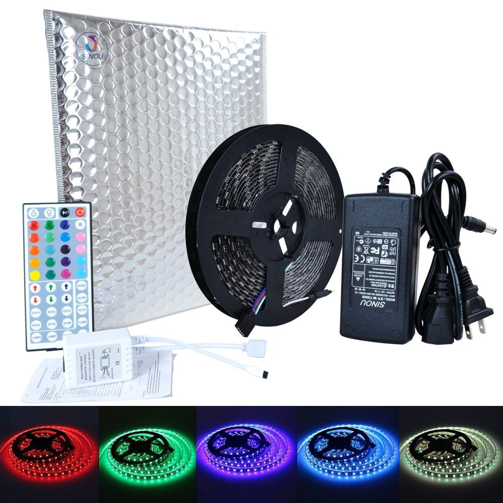 Outdoor Led Strip Lights Tri Color Circuit Controller Sinou 5 Meter Waterproof Flexible Changing Rgb Smd 5050 300 Leds Light Kit