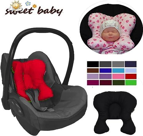 Reductor de asiento con cabezal extra/íble para reci/én nacidos rosa Rosa Sweet Baby Softy Maxi