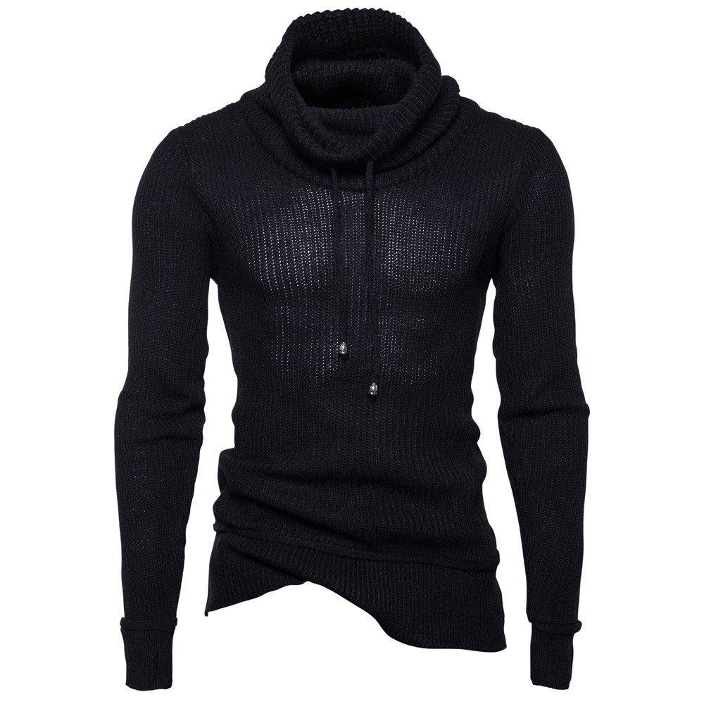Pullover Hoodie For Men,Clearance Sale-Farjing Men's Autumn Winter Sweater Pullover Loose Jumper Knitwear Outwear (2XL,Black)