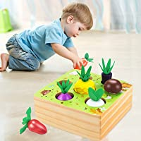 CENOVE Montessori Wooden Toys for 1 2 3 Year Old Boy Girl,STEM Educational Toys of Shape Size Sorting Puzzle, Vegetables…