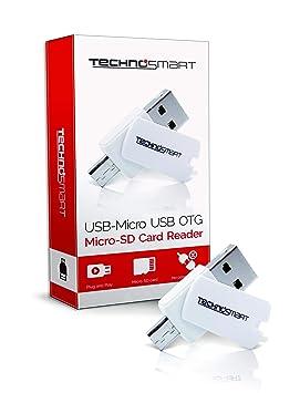 TECHNOSMART Lector de Tarjetas microSD, Adaptador USB OTG de ...
