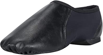 Linodes PU Leather Jazz Shoe Slip On Dance Shoes for Girls and Boys Toddler//Little Kid//Big Kid