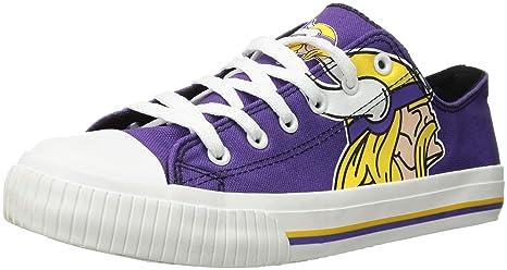 04953b44 NFL Mens Low Top Big Logo Canvas Shoe - Mens, Minnesota Vikings, Medium /  Mens Size 9