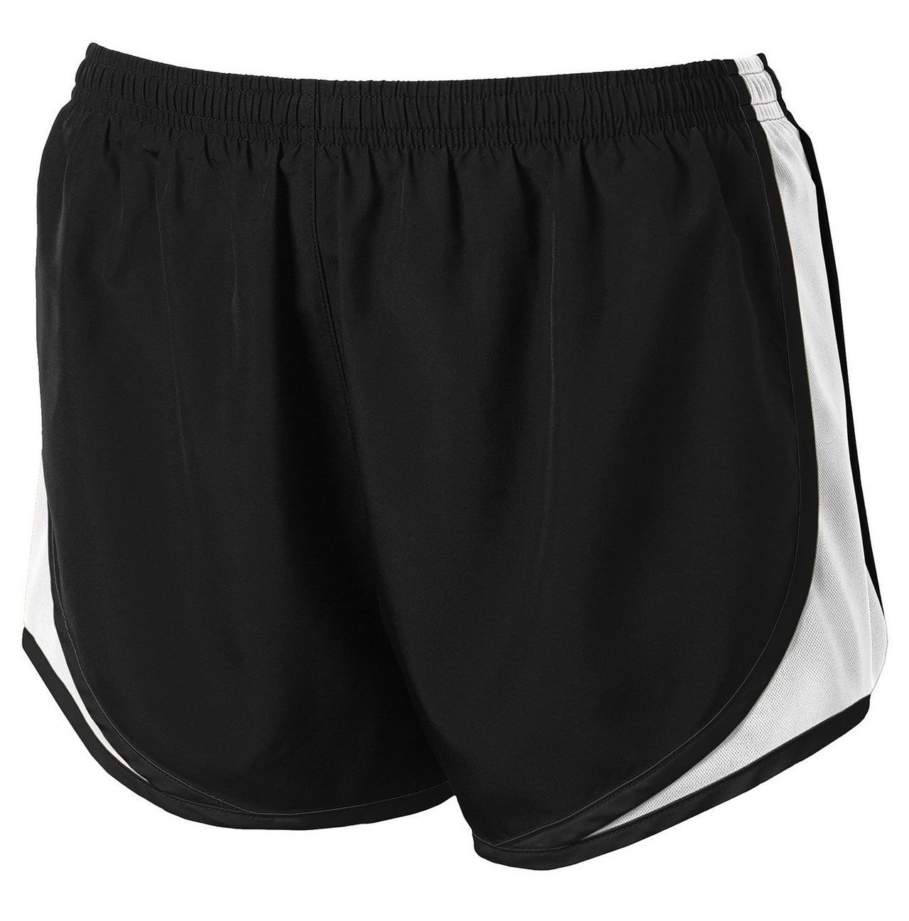 Clothe Co. Ladies Moisture Wicking Sport Running Shorts, Black/White/Black, XS by Clothe Co. (Image #1)
