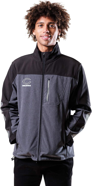 Ultra Game NFL Men's Softshell Windproof Jacket