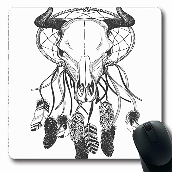 Luancrop Alfombrillas para Computadoras Gráficas Boho Bull Skull ...