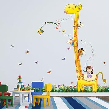 COM-But Gras + Giraffe Music Walpus Wand Aufkleber Kinder Giraffe ...
