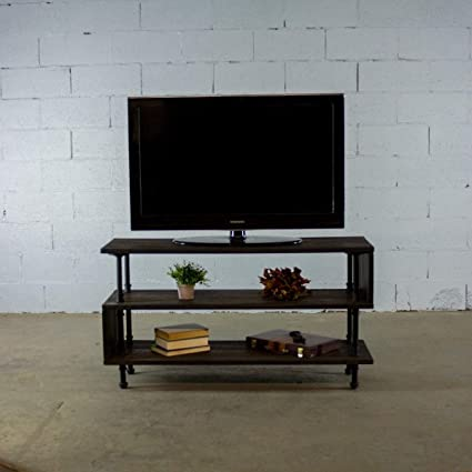 Amazon Com Furniture Pipeline Tv Stand Entertainment Unit Living