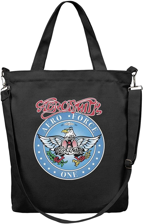 Womens Canvas Grocery Tote Handbags Casual CrossBody Shoulder Bag Metal Rock Group Members Zipper Shopping Hobo bag