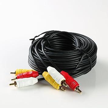 Chapado en oro de color RGB Cable 3 RCA macho a 3 RCA macho (estéreo