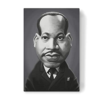 Amazon De Artboxone Leinwand 90x60 Cm Lustig Martin Luther King Von