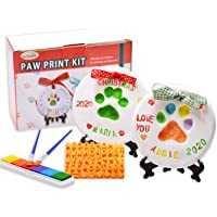 LOOBANI Dog Paw Print Ornaments Kit,DIY Pet Footprint Memorial Impression Keepsake for Puppy and Cats Owners with Light Clay & Deluxe Tool Set