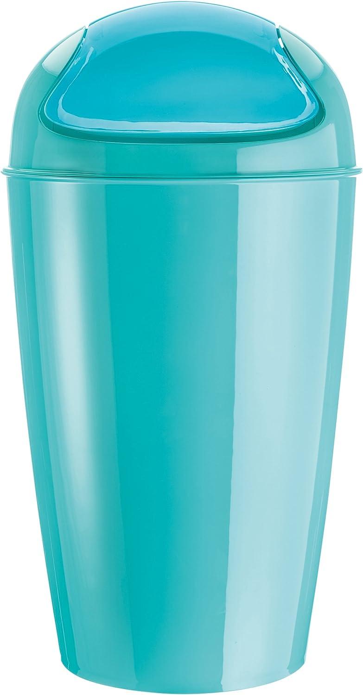 thermoplastique 34 x 34 x 64,8 cm koziol poubelle /à couvercle bascule 30 l turquoise