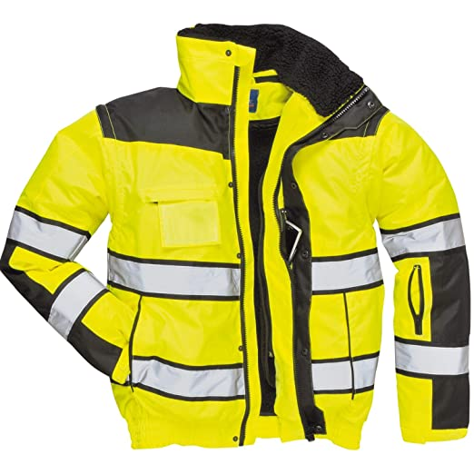 4in1 Warnschutzjacke Regenjacke Winterjacke Arbeitsjacke