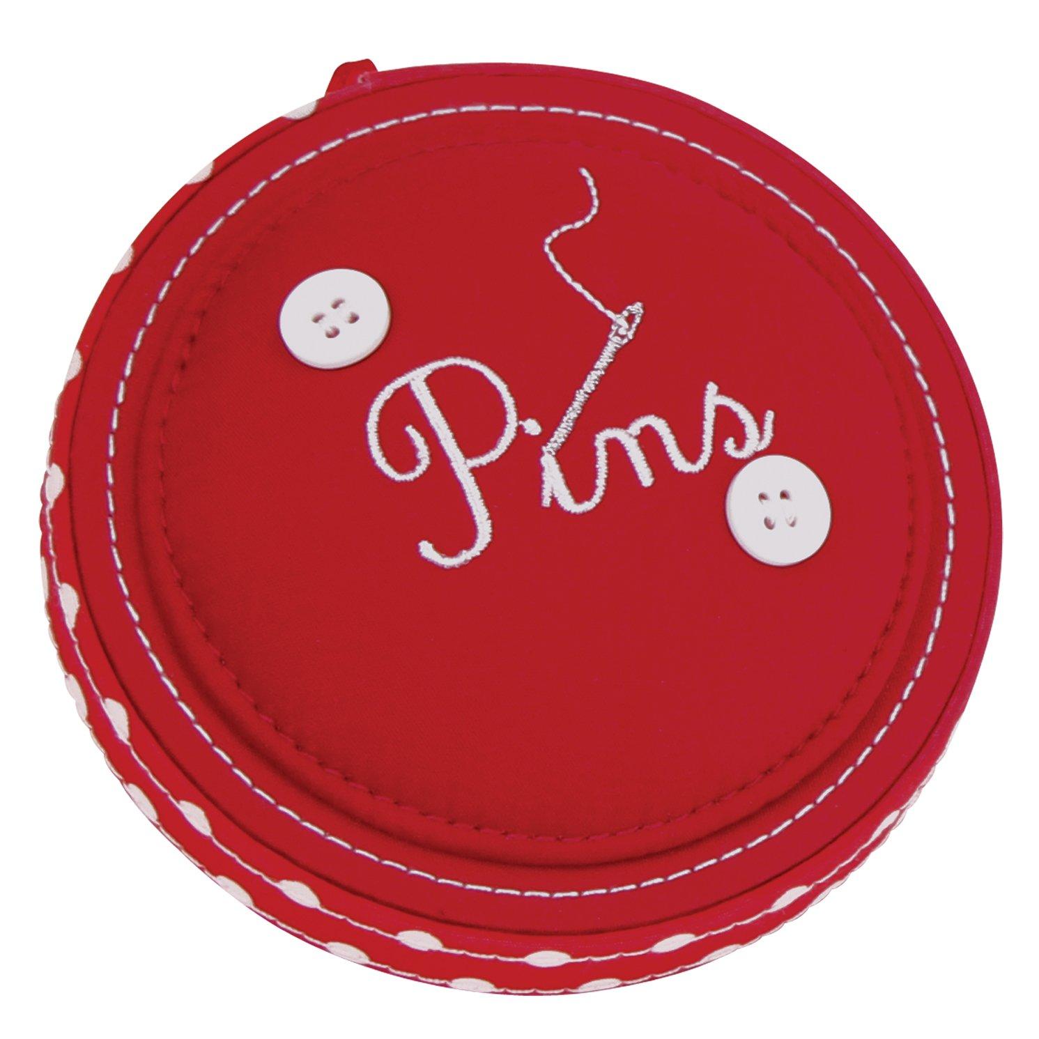 Button It Pin Cushion - Red Polka Dot 319 London Clock Company 82319