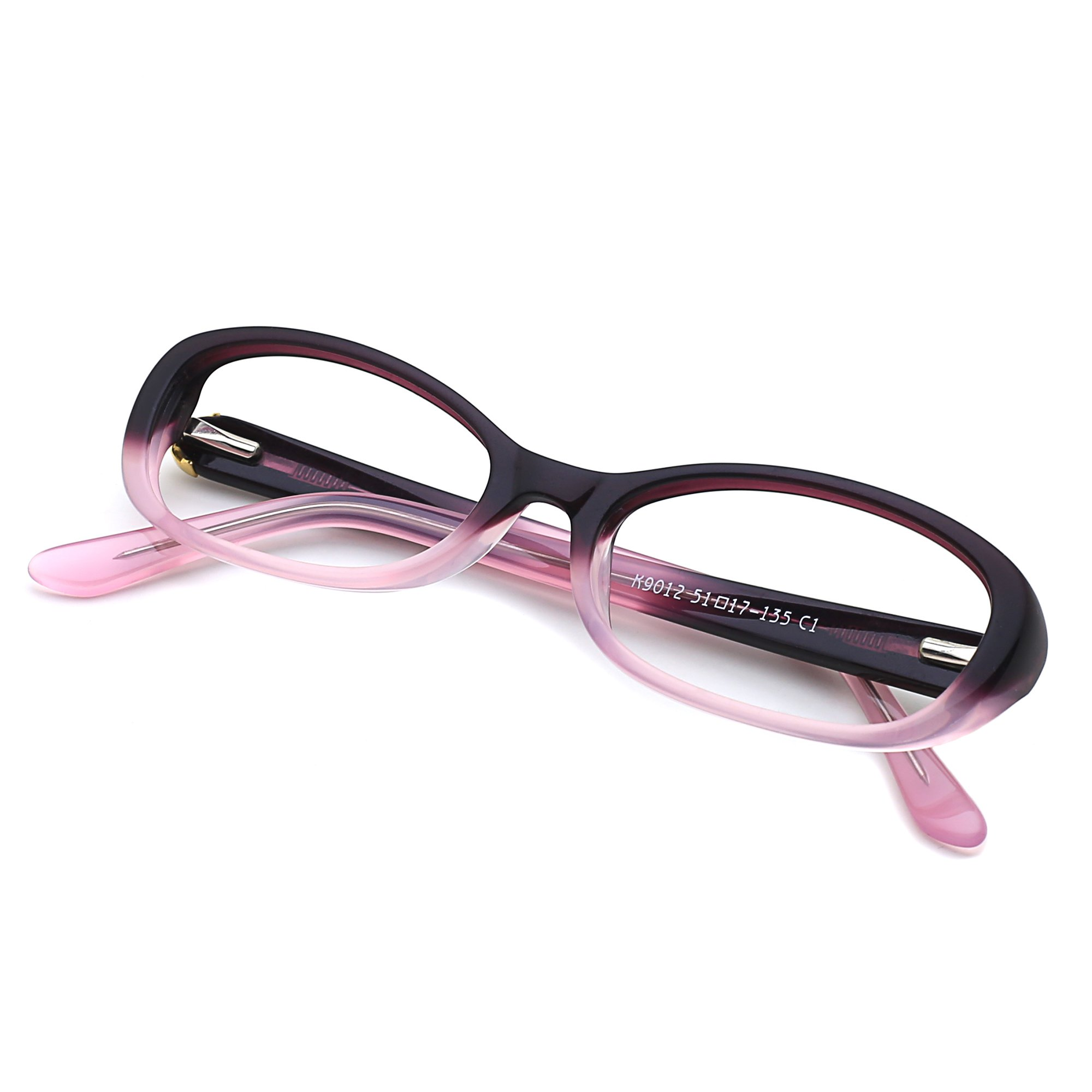 Slocyclub Small Rectangle Eyeglasses Retro Style Plate Frame Clear Lens Cool Stylish