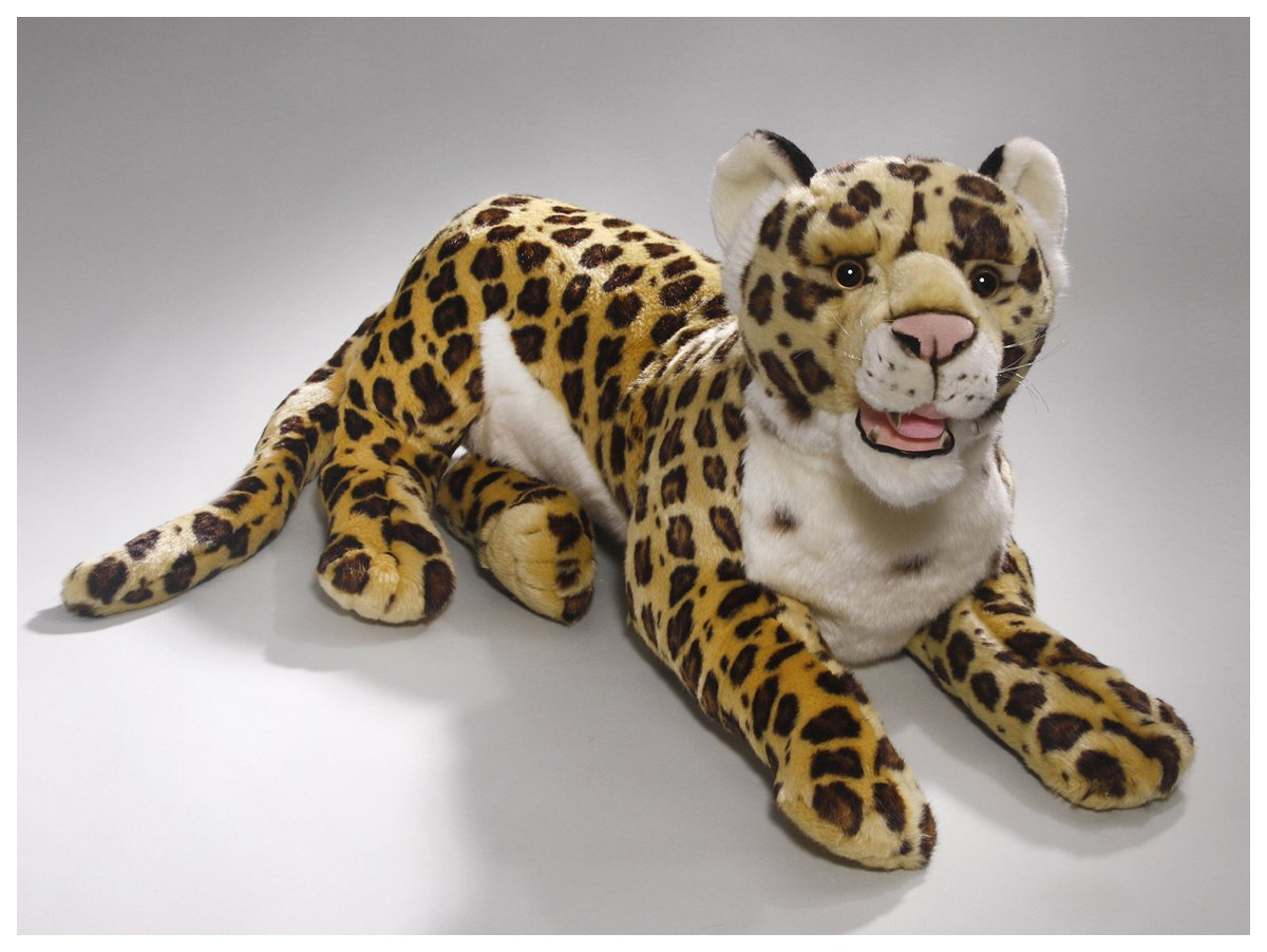 Amazon.com: Carl Dick Jaguar 24 inches, 60cm, Plush Toy, Soft Toy, Stuffed Animal 3301: Toys & Games