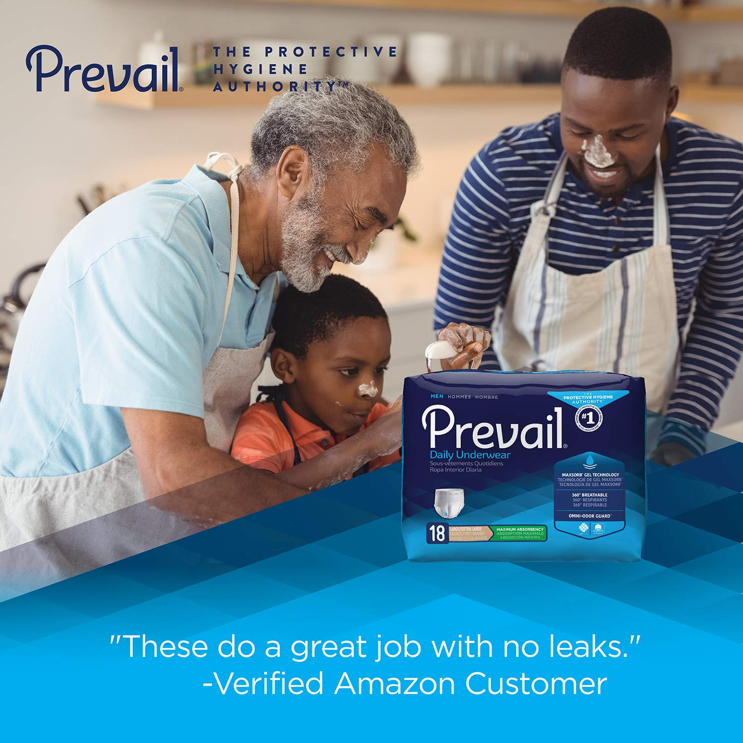 Amazon.com: Prevail Maximum Absorbency Incontinence Underwear for Men, Large/Extra Large, 54 Count: Health & Personal Care