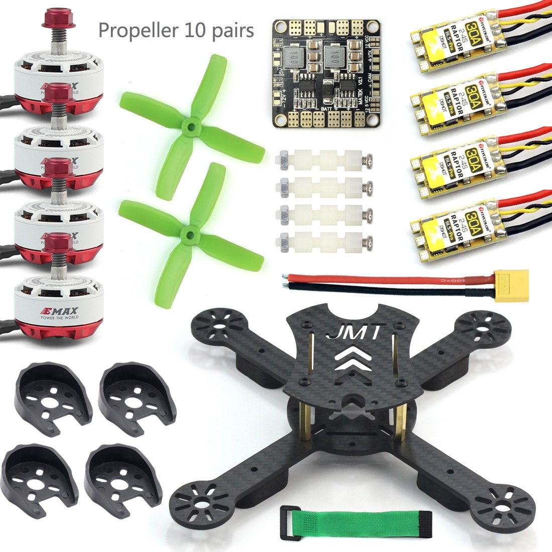 JMT X180 DIY Racing Drone Quadcopter Combo Frame w  EMAX RS2306 2750KV 2400KV Brushless Motor + BLHeli-s 30A   4in1 20A 12A ESC (2750KV w Xredor 30A)