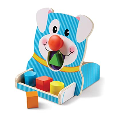 Melissa & Doug First Play Wooden Spin & Feed Shape Sorter: Toy: Toys & Games [5Bkhe1003476]