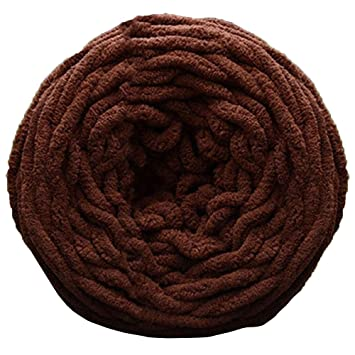 verlike DIY suave bufanda Jersey toalla hilo grueso chunky Rizo ovillo para tejer (, poliéster, café, 100 g: Amazon.es: Hogar