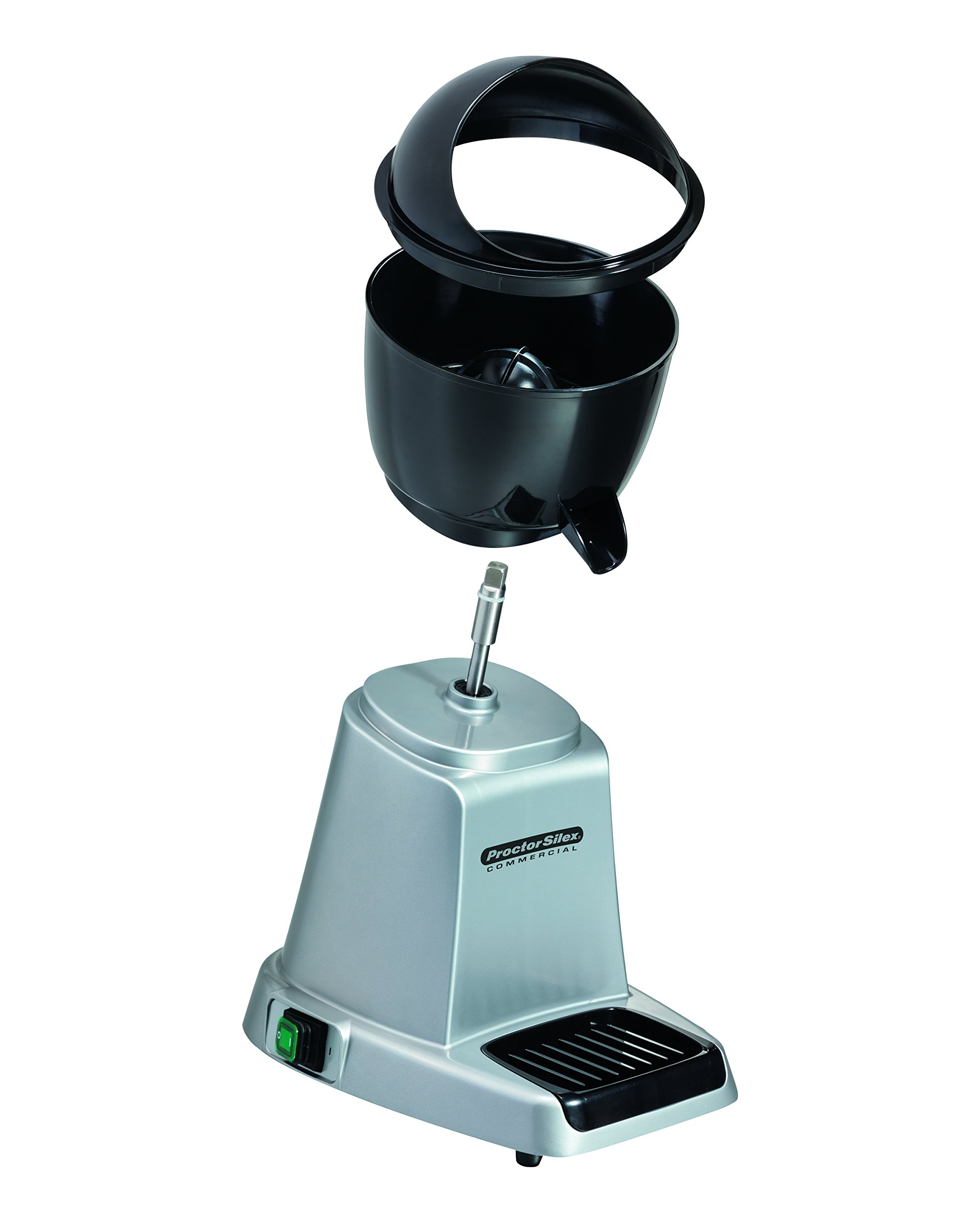 Proctor Silex Commercial 66900 Electric Citrus Juicer, 3 Reamer Sizes for Oranges, Lemons, Limes and Grapefruits, Removable Bowl, Strainer, Splashguard, Drip Tray, Black/Grey by Hamilton Beach (Image #6)