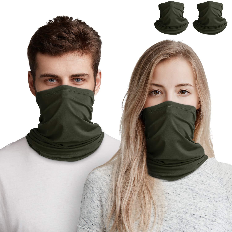 Bandana Face Mask for Women/Men, Unisex Multifunctional Outdoor Cycling Mask Scarf Balaclava, Neck Gaiter Stretchy Breathable Mask, Washable Headwear Neckwear Headband for Outdoor Motorcycle