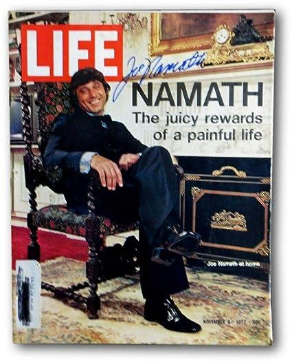 95c1094b6da Joe Namath Autographed Signed Memorabilia Life Magazine 11/3/72 Ny Jets JSA  V68015 at Amazon's Sports Collectibles Store