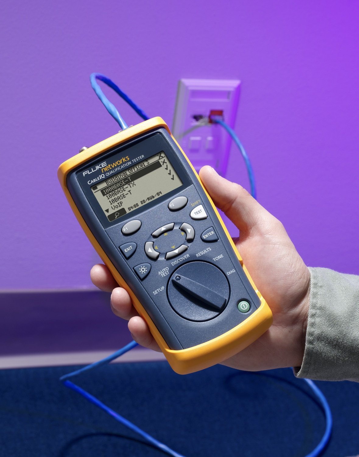 Fluke Networks Ciq 100 Cable Tester Circuit Testers Network Wiring Commercial Design Industrial Scientific