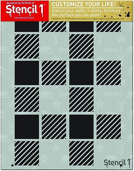8.5 x 8.5 Art Deco Tile Design Pattern Stencil