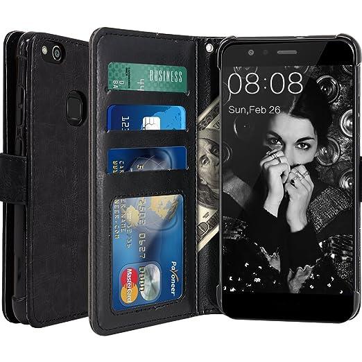 14 opinioni per Custodia Huawei P10 Lite, LK Case in Pelle PU di Lusso Portafoglio con Fessure