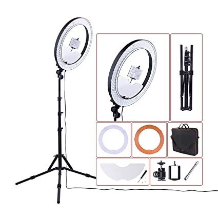 Amazoncom 18 Ring Light 55w 5500k Dimmable Led Lighting Kit With