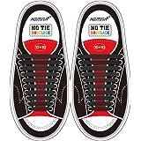 HOMAR Cordones de Zapatos para Niños y Adultos Cordones Elásticos Silicona para Corredores