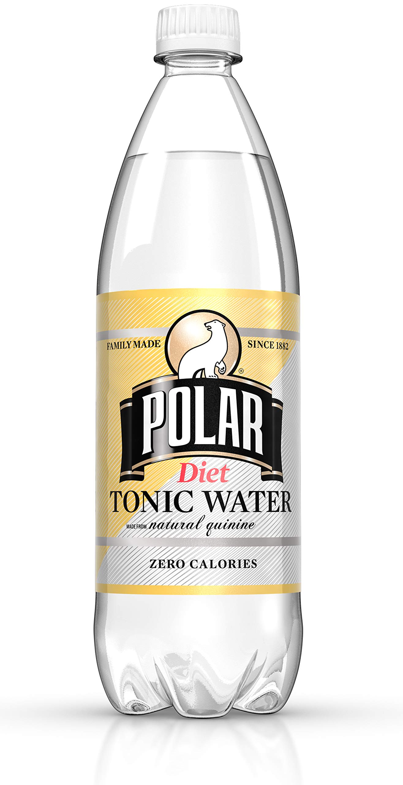 Polar Beverages Diet Tonic Water, 33.8 Fluid Ounce (Pack of 12) by Polar Beverages