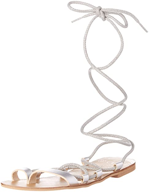 TG.36 CUPLE Romana Plata Sandali con cinturino Donna