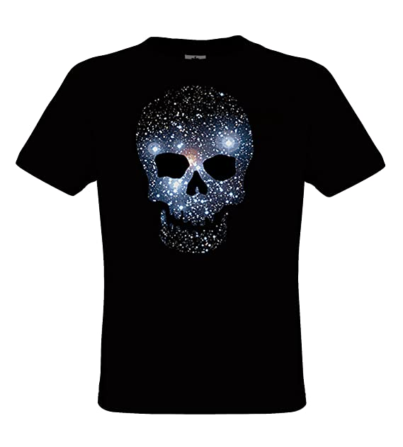 DarkArt-Designs Space Skull - Camiseta Cielo Estrella Calavera para niños y Adultos - Heavy Metal Estilo de Vida T-Shirt Regular fit: Amazon.es: Ropa y ...