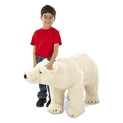 Melissa & Doug Giant Polar Bear - Lifelike Stuffed Animal (nearly 3 feet long): Toys & Games