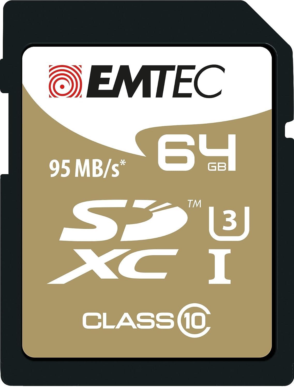 EMTEC SDXC 64 GB Class 10 Speedin 64 GB SDXC Class 10 - メモリカード - 64 GB - SDXCメモリカードClass 10 95MB / s、ブラック)   B01CWUCDT6