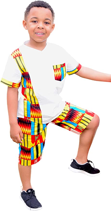 Shenbolen Baby Girl African Print Clothing Ankara Skirt Top Set