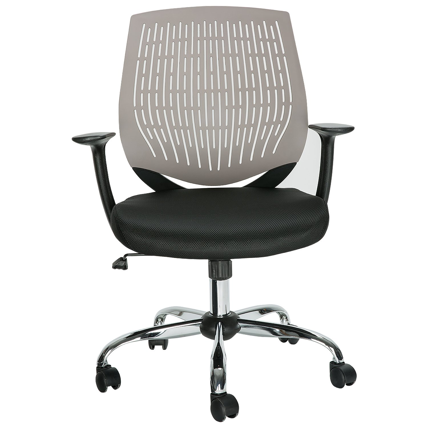 HollyHOME Ergonomic Mesh Task Chair, Mid Back Office Swivel Computer Desk Chair with Super Soft Back Support, Grey
