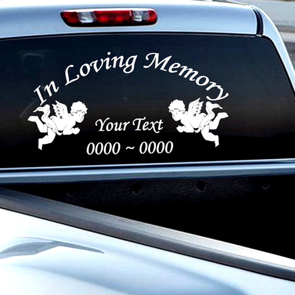 Amazon com custom angels in loving memory personalized car wall vinyl decals stickers 15 inches home kitchen