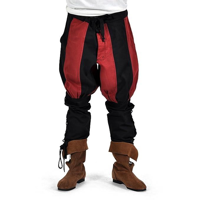 0bee489ced pantalones de los hombres medievales Bertram Unterbeinschnürung bolsas  tapeta de color rojo negro - XL  Amazon.es  Ropa y accesorios