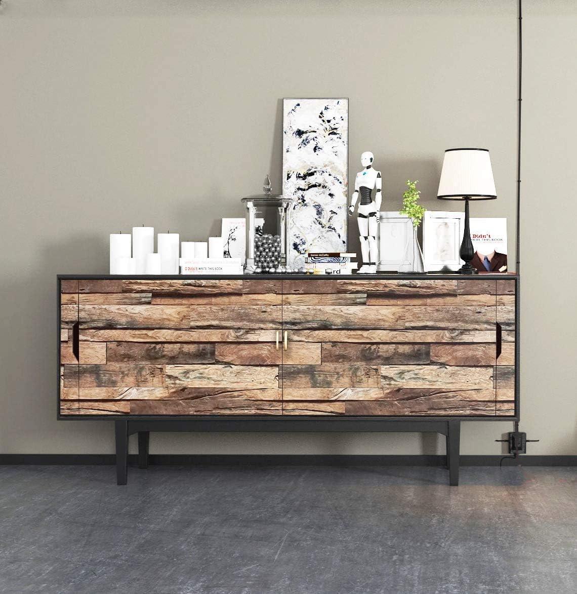 marrone Pellicola adesiva per mobili in legno 45 x 500 cm