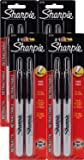 Sharpie Retractable Fine Point Permanent Black Markers, [32724PP] 2 Count (Pack of 4) 8 Markers Total