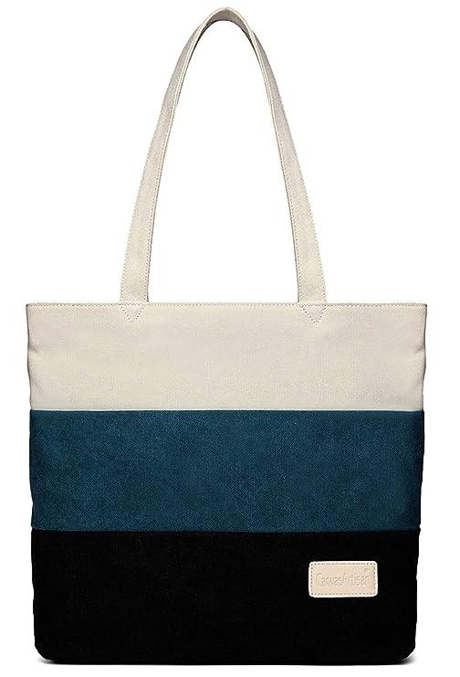 df4894c41dba0e DCCN Canvas Shopper Bag Damen Canvas Handtaschen Tote Bag: Amazon.de:  Koffer, Rucksäcke & Taschen