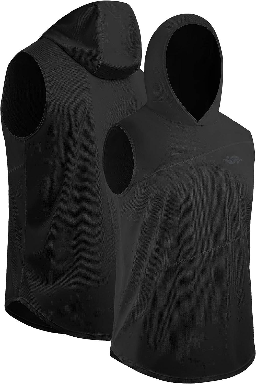 Cadmus Mens Cool Dry Mesh Tank Top with Hoods 2 Pack