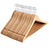 Amazon Price History for:SONGMICS Solid Wood Suit Hangers 20 Pack Non-Slip Coat Hangers with Notched Shoulder Hanging Bar Natural UCRW001-20