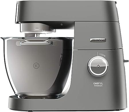 Kenwood Chef XL Titanium KVL8320S – leistungsstarke Küchenmaschine, 6,7 l Rührschüssel mit Innenbeleuchtung, Easy-Lift & Interlock-Sicherheitssystem, 1700 Watt, inkl. 5-teiligem Patisserie-Set, silber