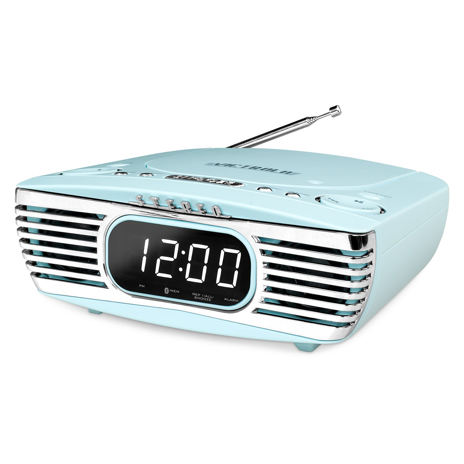 Innovative Technology Surround Alarm Clock Compact Stereo Set of 1 Turquoise (V50-250-TRQ)