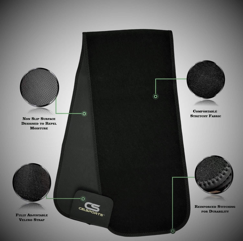 Weight Loss Ab Belt Premium Stomach Wrap and Waist Trainer CELSPORTS Waist Trimmer Belt